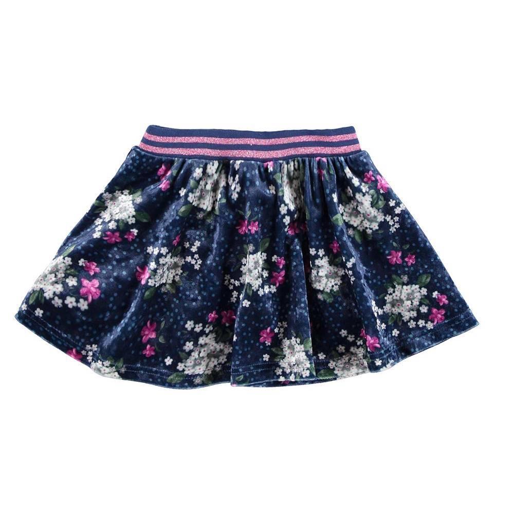 Юбка для девочки iDO цветочный узор 4.V676.00/6EP8