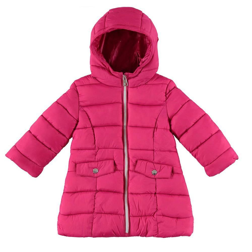 Пальто для девочки iDO демисезонное стеганное с капюшоном 4.V681.00/5830