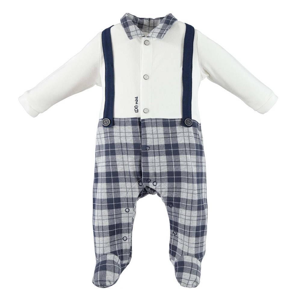 Комбинезон человечек для мальчика iDO трикотаж хлопок имитация костюма 4.V203.00/8132