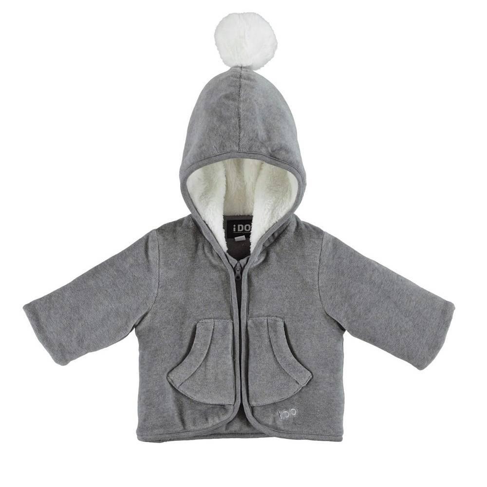 Куртка детская IDO демисезонная с капюшоном с помпоном 4.V227