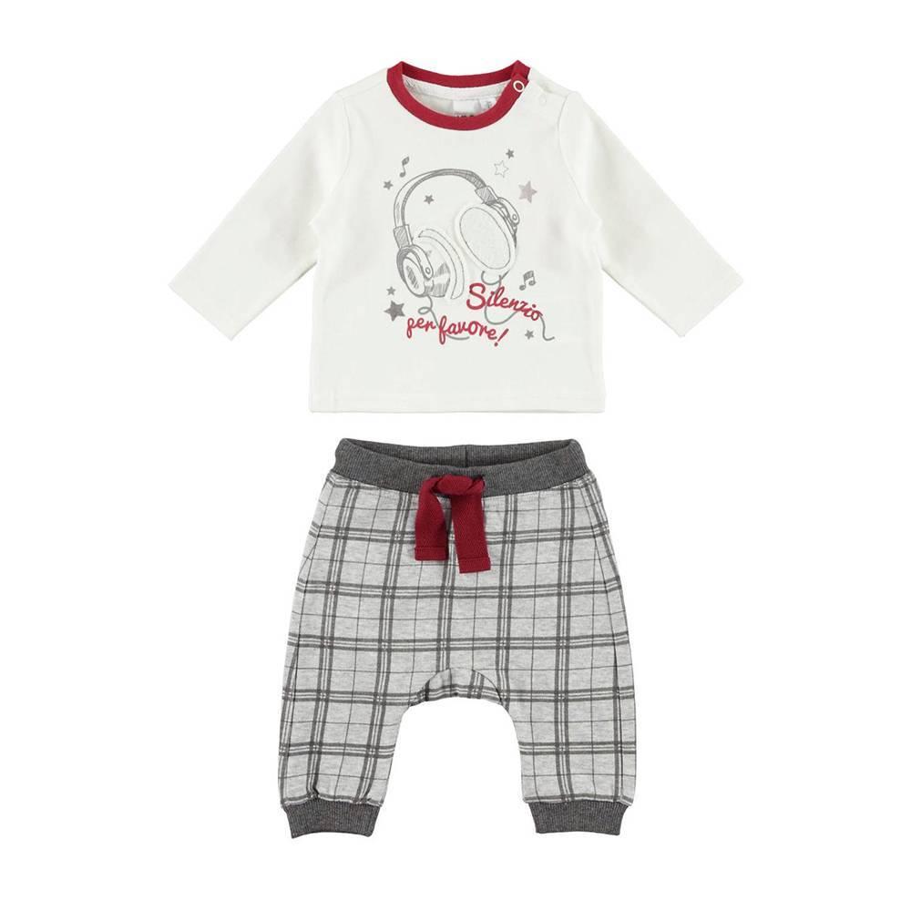 Комплект для мальчика iDO новорожденного реглан штаны хлопок трикотаж 4.V258.00/8131