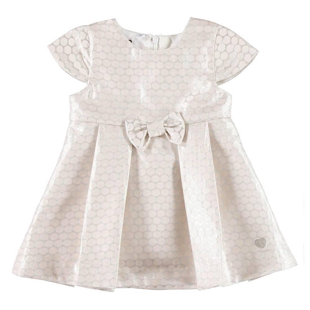Платье для девочки iDO новорожденной бежевый нарядное 4.V425.00/6X33