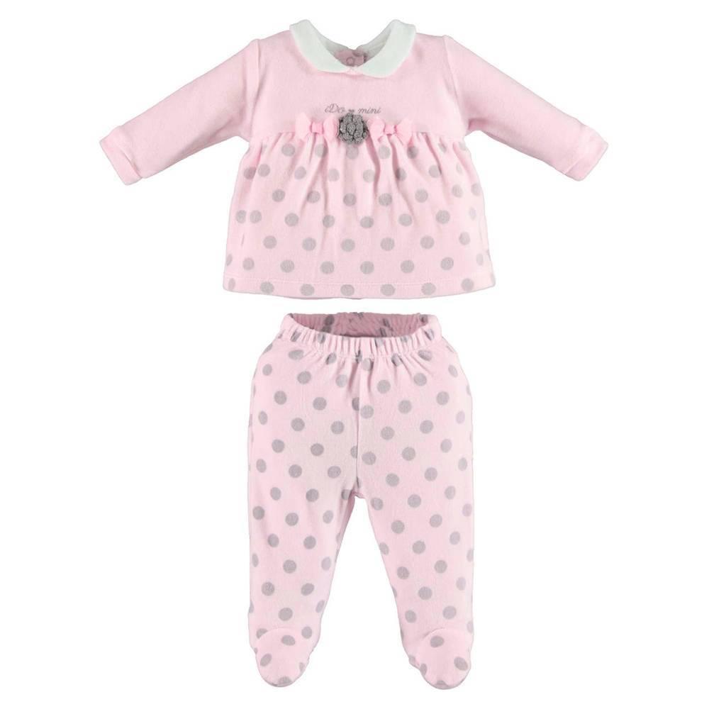 Комплект для девочки iDO велюровый для новорожденной реглан ползунки 4.V436.00/5819