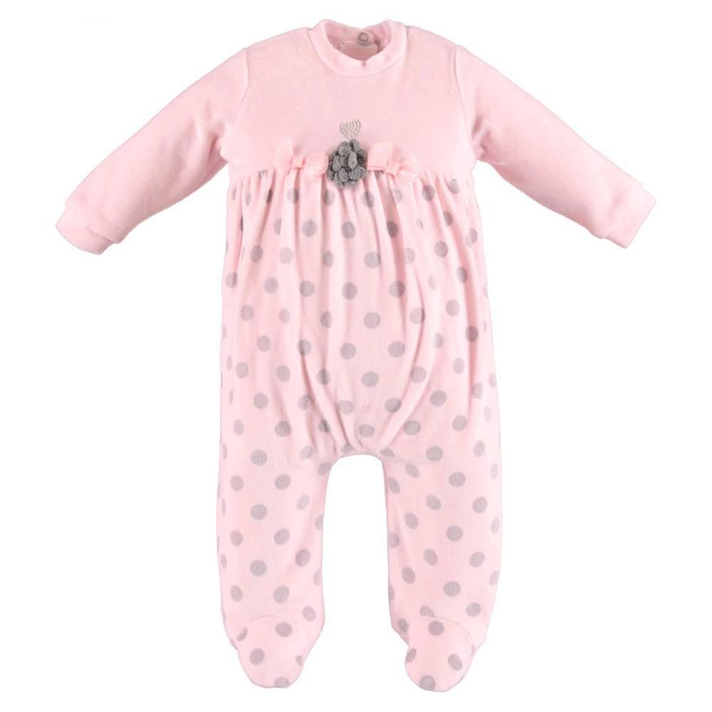 Человечек для девочки iDO новорожденной розовый велюровый 4.V444.00/5819