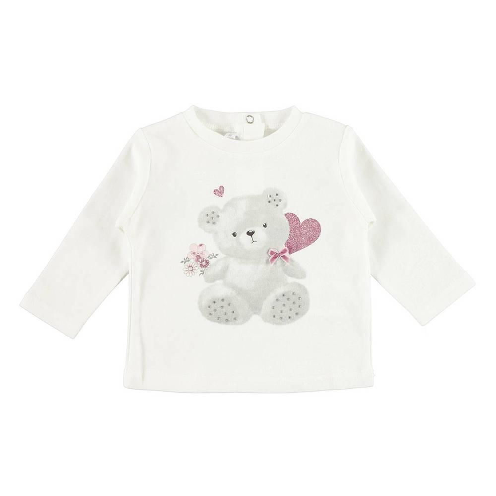 Реглан для девочки iDO новорожденной белый трикотаж хлопок оборка 4.V411.00/0112