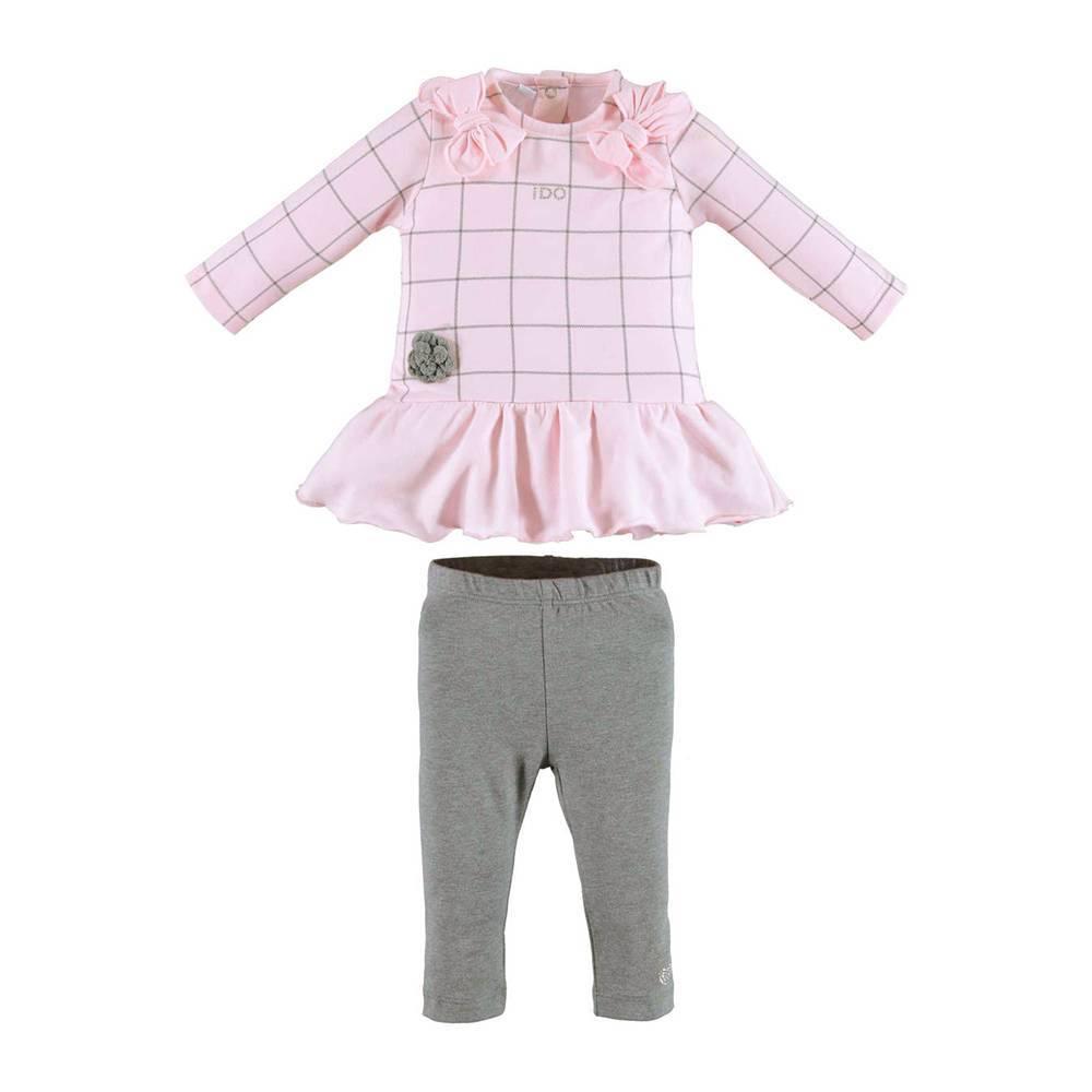 Комплект для девочки iDO новорожденной трикотаж туника леггинсы 4.V460.00/8248