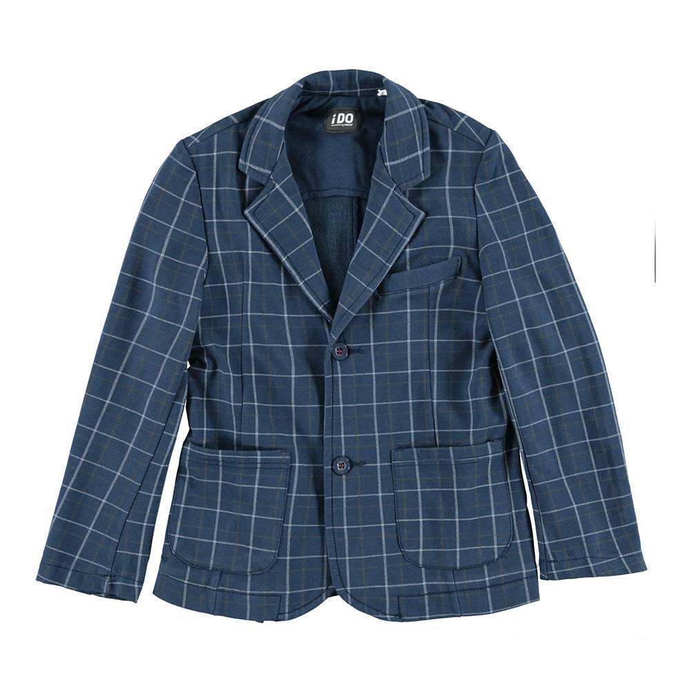 Пиджак для мальчика iDO синий клетчатый 4.V788.00/6ES2