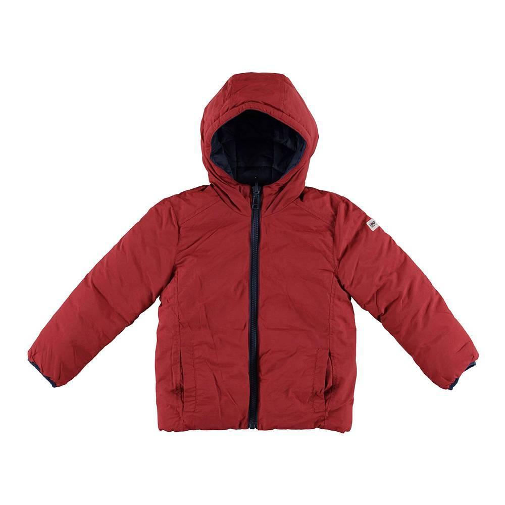 Куртка для мальчика iDO демисезонная двухсторонняя с капюшоном 4.V797.00/2546