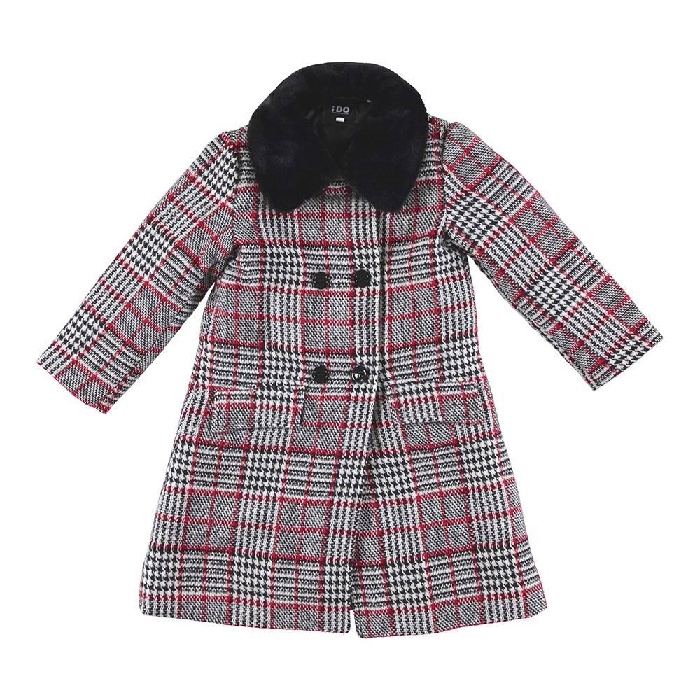 Пальто для девочки iDO текстиль серый 4.V880.00/8442
