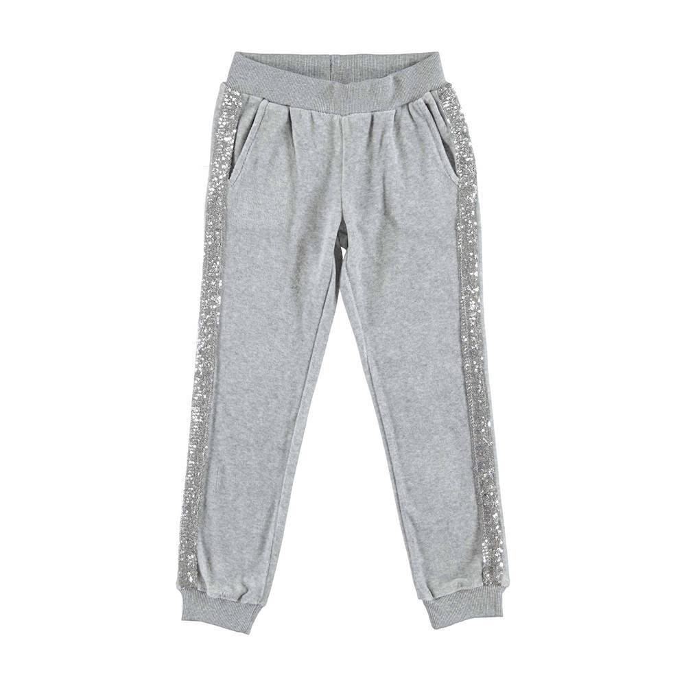 Штаны спортивные для девочки iDO велюровые трикотаж серый 4.V939.00/8992