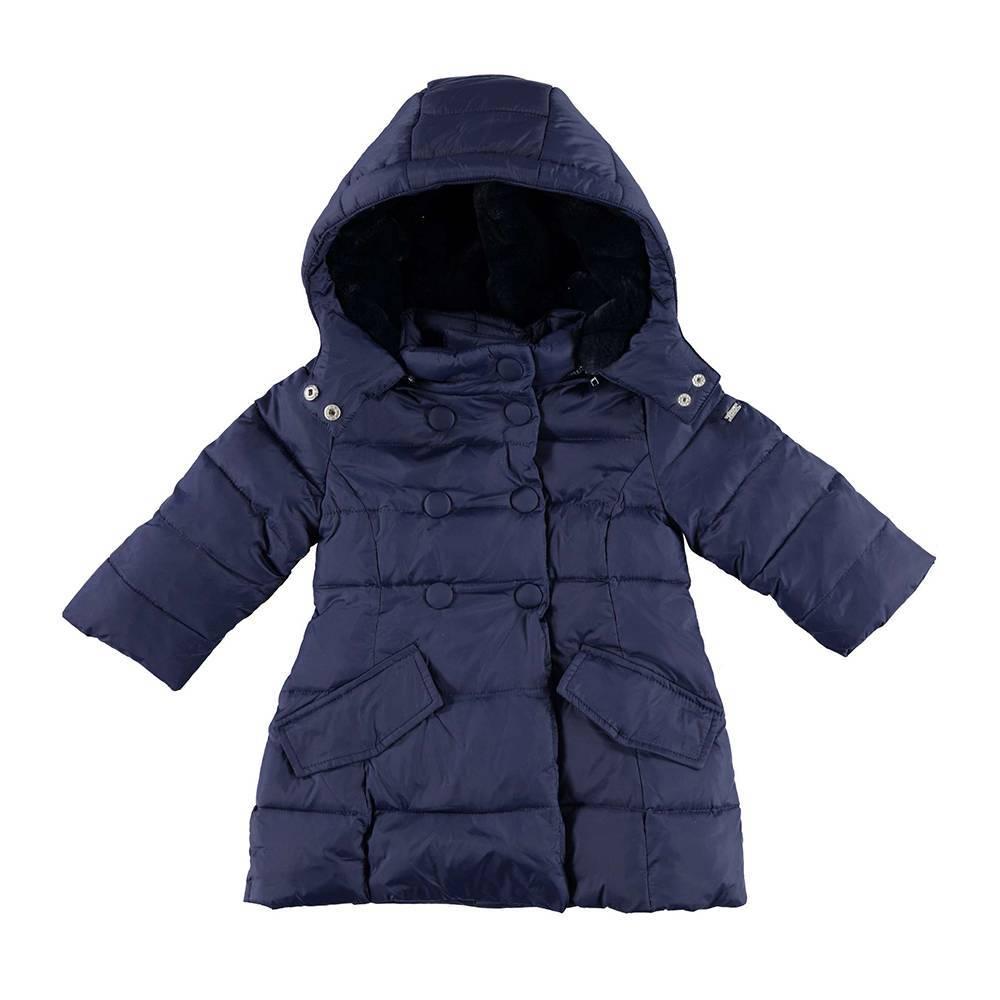 Пальто для девочки демисезонное стёганое с капюшоном 4.V861.00/3854