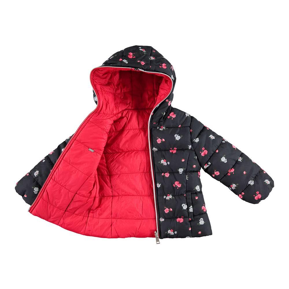Куртка для девочки iDO демисезонная с капюшоном двухсторонняя 4.V864.00/6EU6
