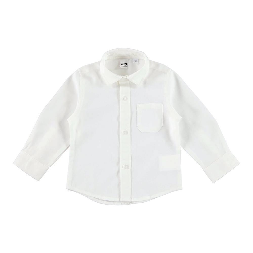 Рубашка мальчика iDO белый хлопок текстиль классика 4.V504.00/0112
