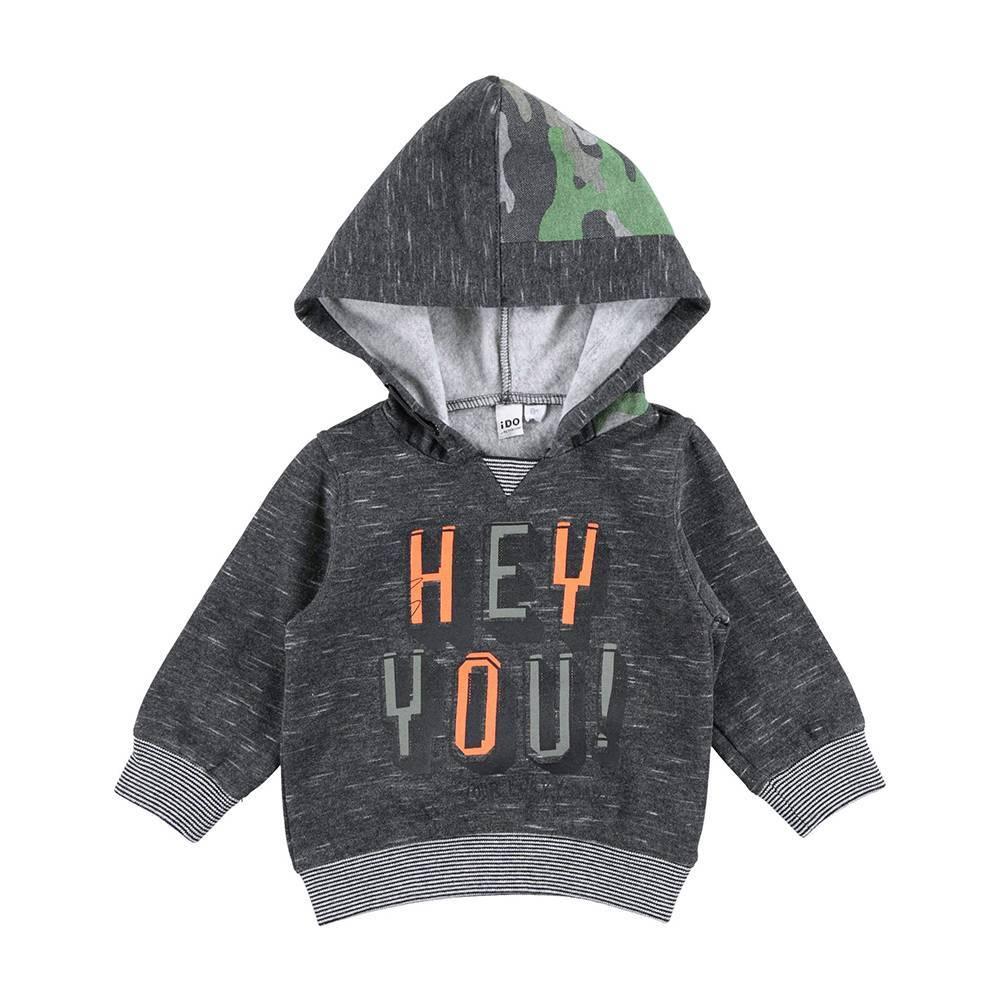 Свитшот для мальчика iDO худи трикотаж с капюшоном 4.V526.00/0658