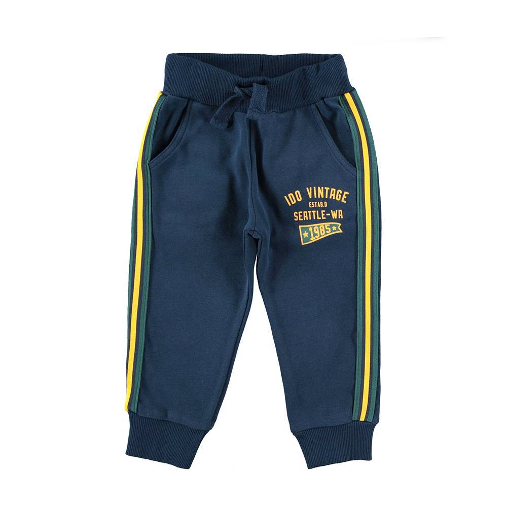 Штаны спортивные для мальчика iDO синий трикотажные хлопок 4.V550.00/3856