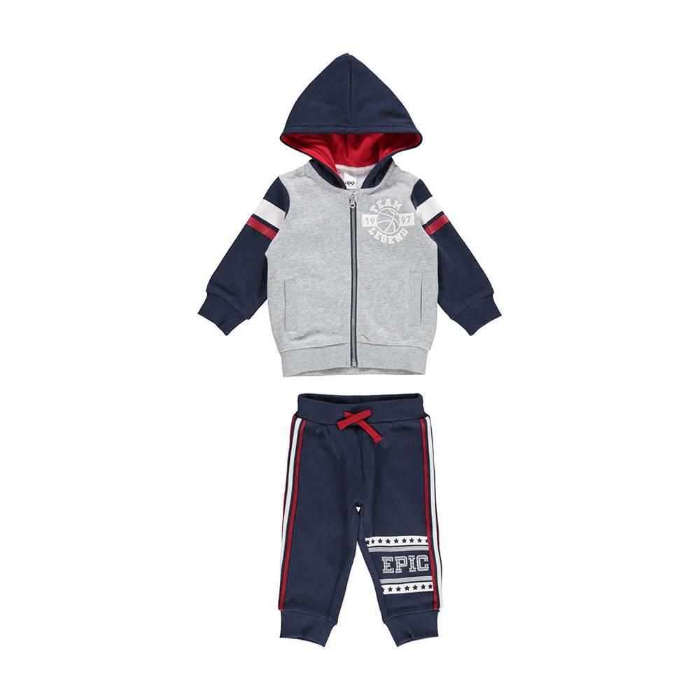 Комплект для мальчика iDO спортивный теплый толстовка с капюшоном 4.V584.00/8225