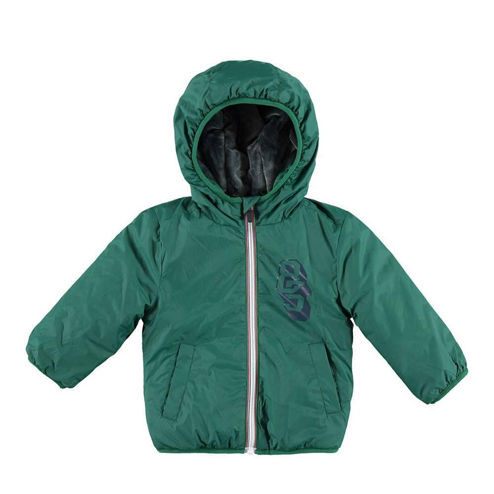 Куртка ветровка для мальчика iDO демисезонная с капюшоном 4.V596.00/4554