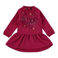 Платье для девочки iDO хлопок трикотаж красный принт 4.V619.00/2655