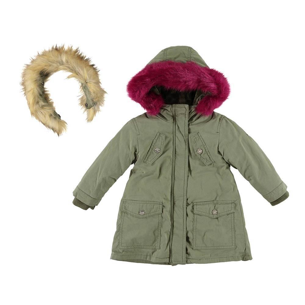 Парка для девочки iDO зимняя с капюшоном 2 воротника 4.V684.00/4752