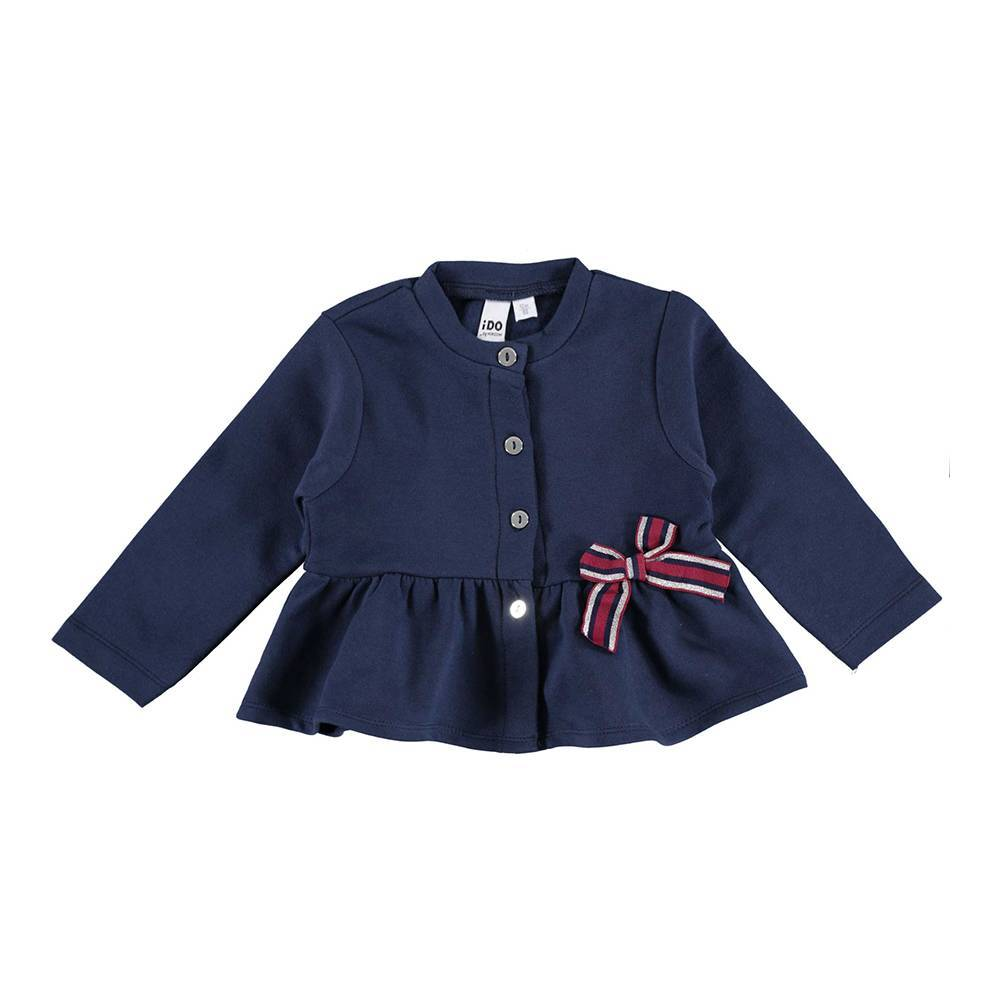 Жакет для девочки iDO трикотаж синий хлопок 4.V696.00/3854