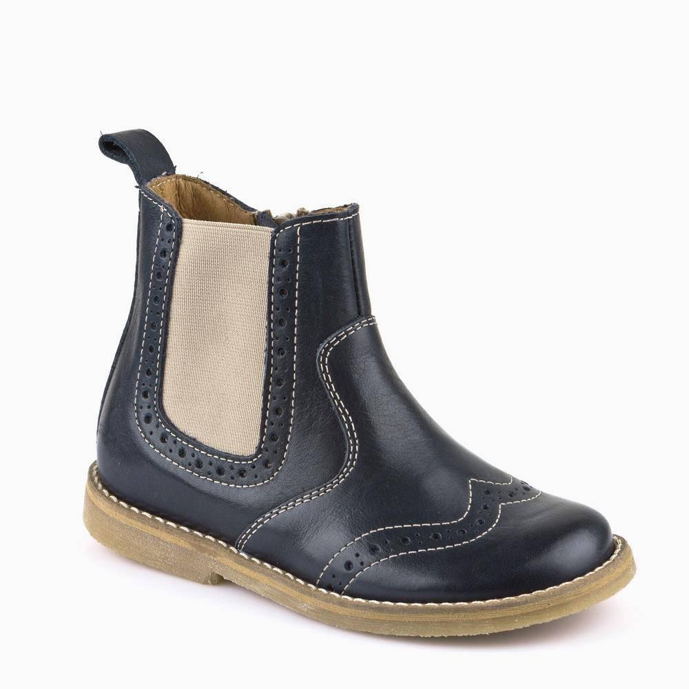 Ботинки для мальчика Froddo демисезонные натуральная кожа синий G3160046-1/DarkBlue