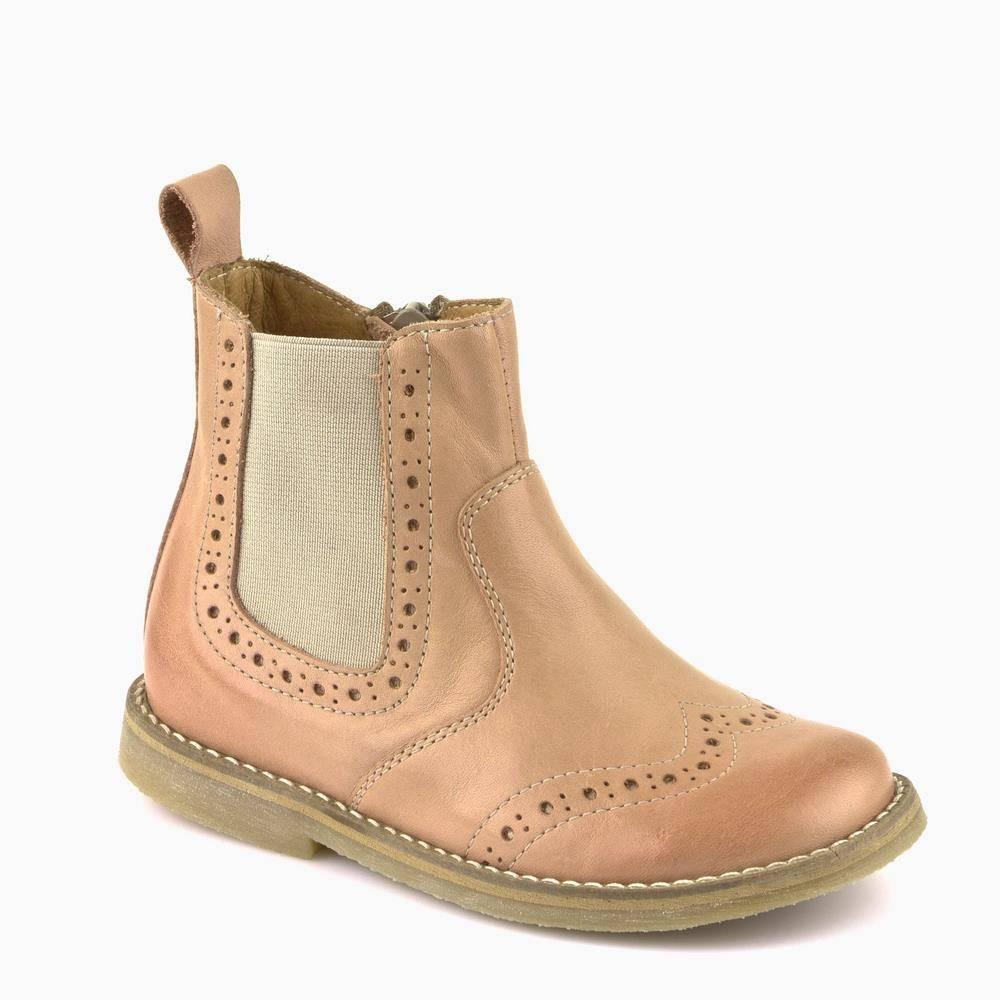 Ботинки для девочкиFroddo демисезонные натуральная кожа бежевый G3160046-4