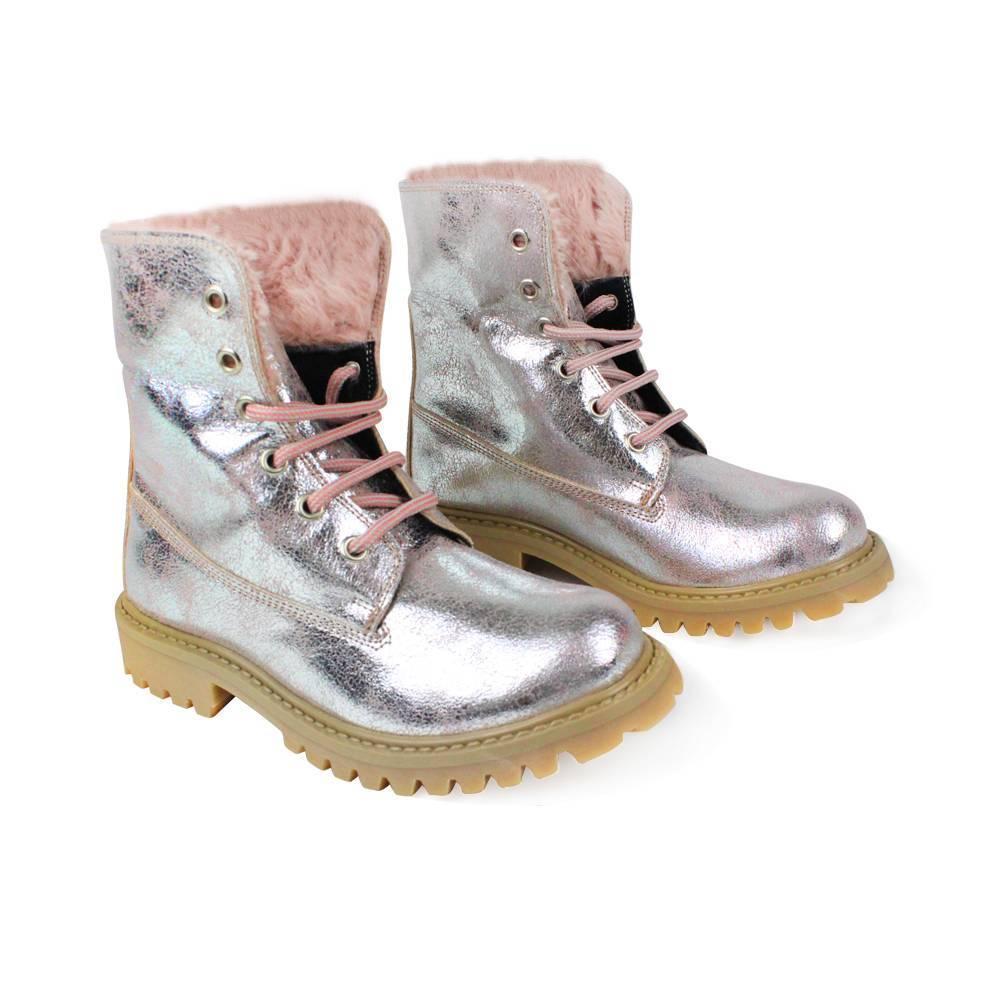 Ботинки для девочки IDO искусственная кожа шнурки 4.V081.00/2513