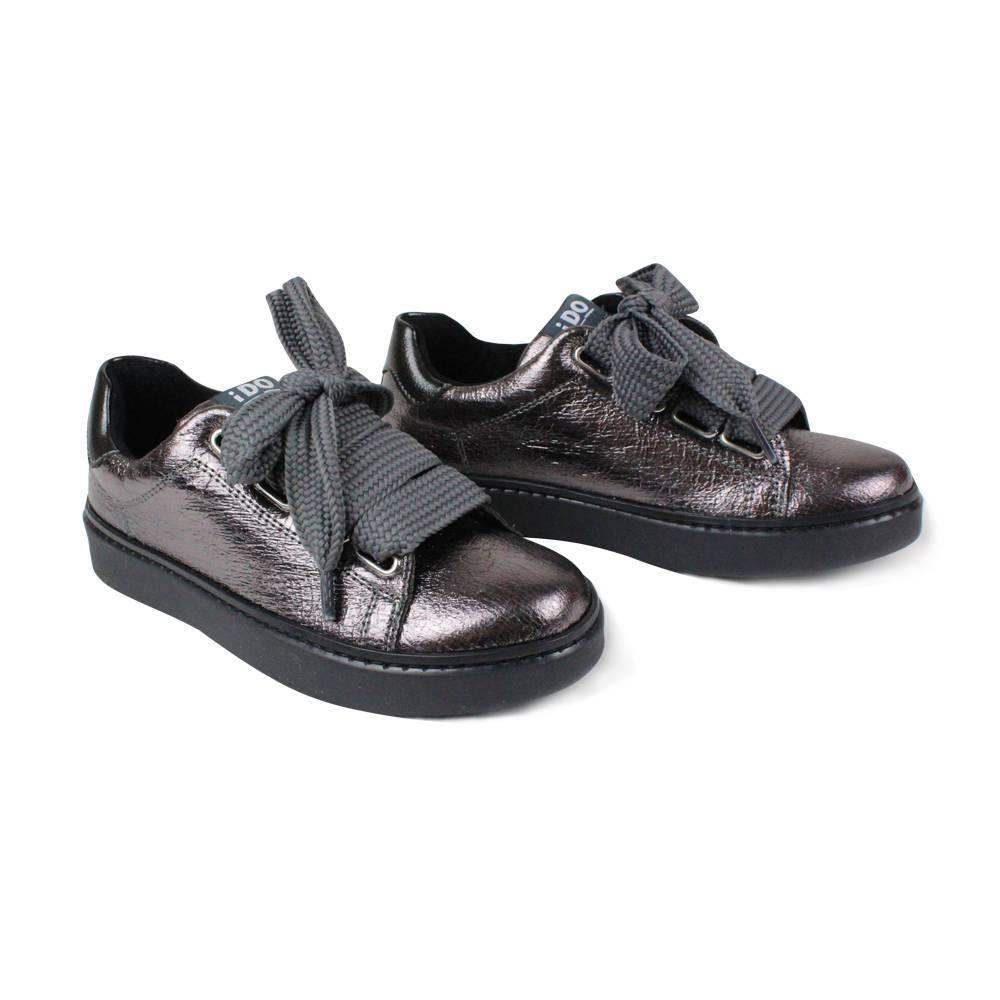 Кроссовки для девочки IDO черные на шнурках 4.V082.00/0658