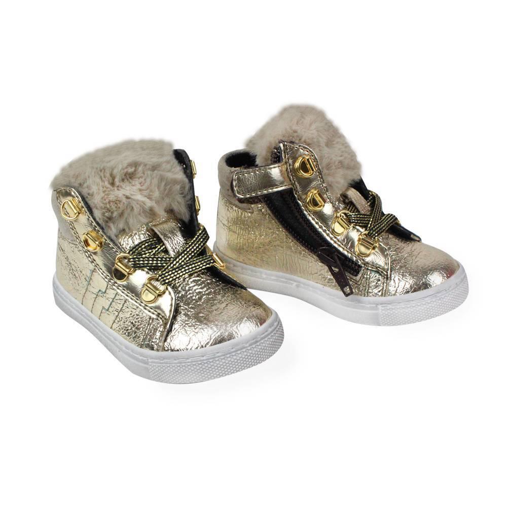 Ботинки для девочки IDO искусственная кожа липучки молния4.V091.00/1977