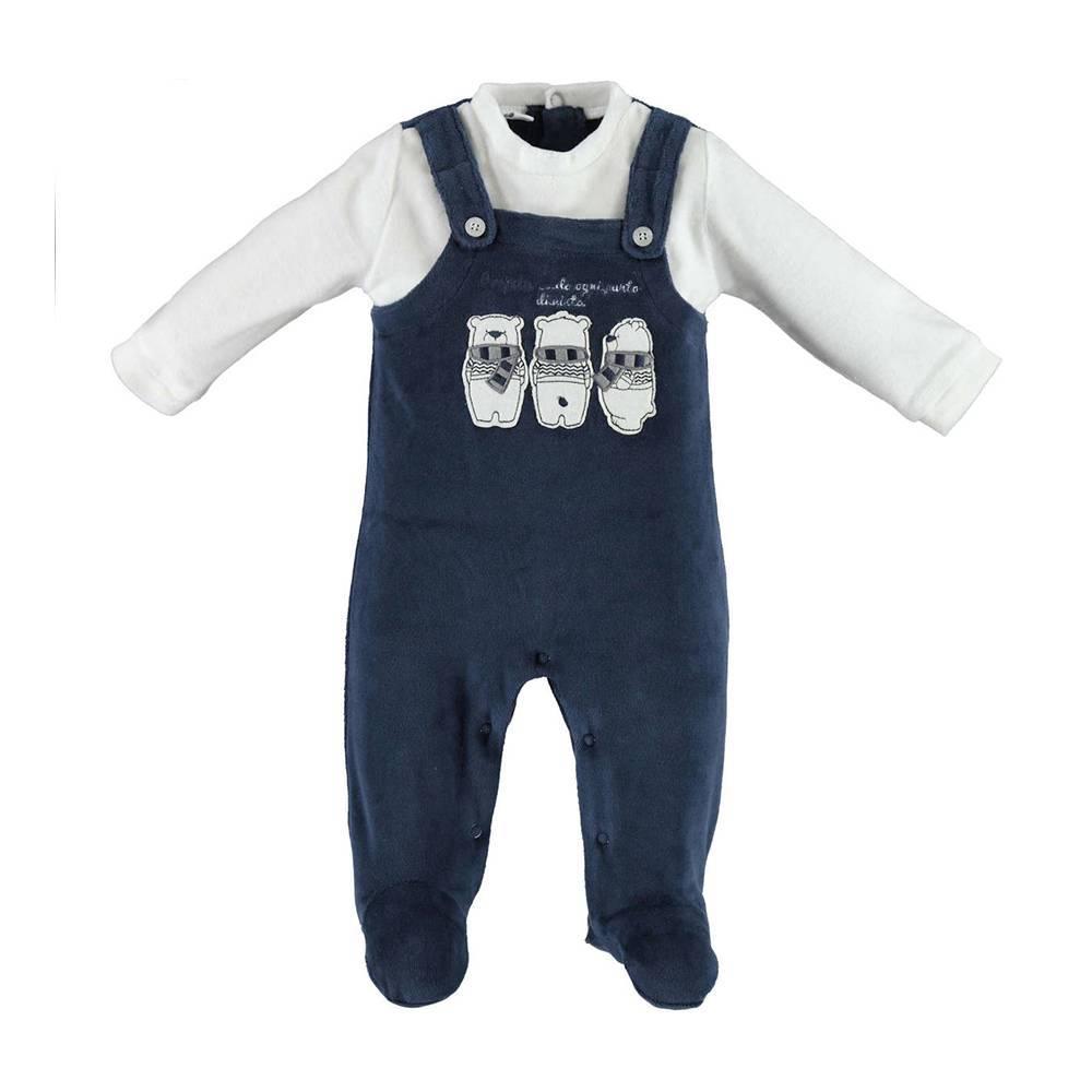 Человечек для мальчика iDO трикотажный велюровый иммитация свитера 4.V205.00/8134