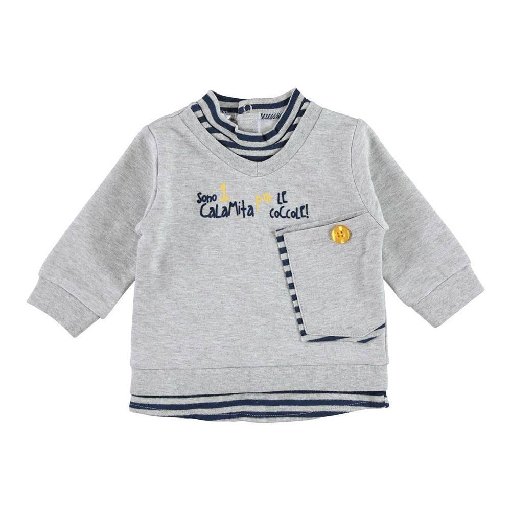 Реглан велюровый для мальчика iDO иммитация рубашки трикотаж 4.V255.00/8992