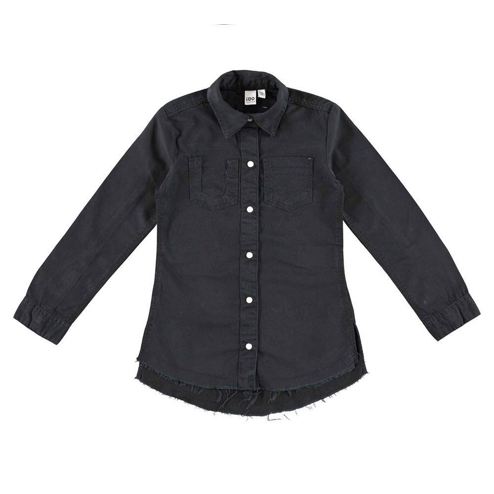 Рубашка для девочки iDO подросток макси черный хлопок 4.V907.00/0658