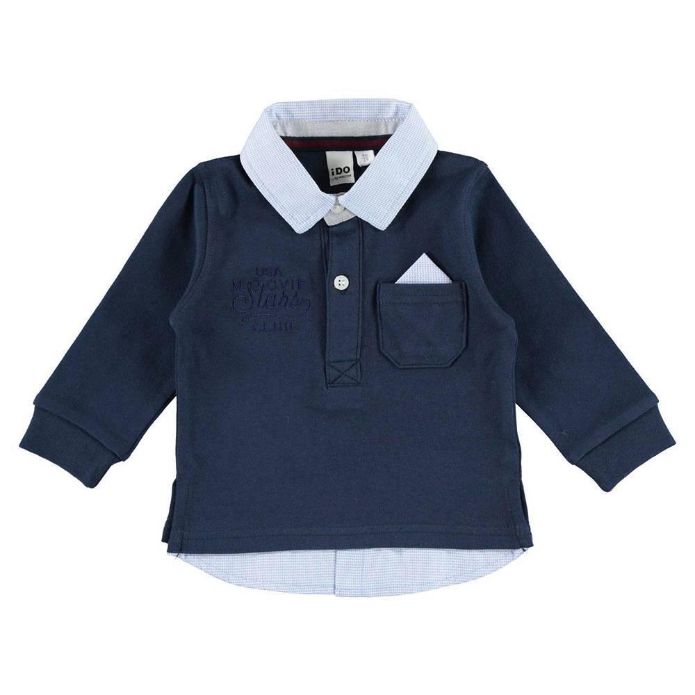 Реглан поло для мальчика iDO хлопок трикотаж рубашечный ворот 4.V536.00/00/3856