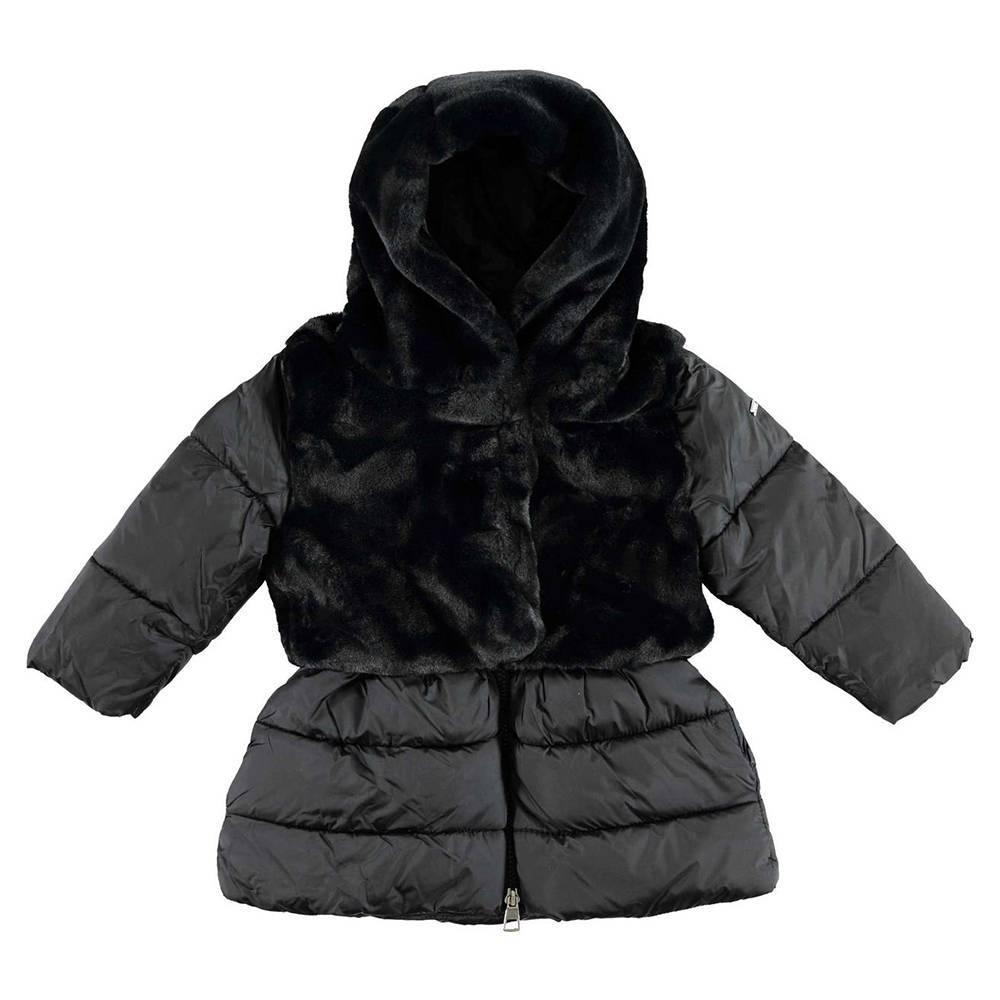 Пальто для девочки IDO демисезонное с капюшоном 4.V688.00/0658