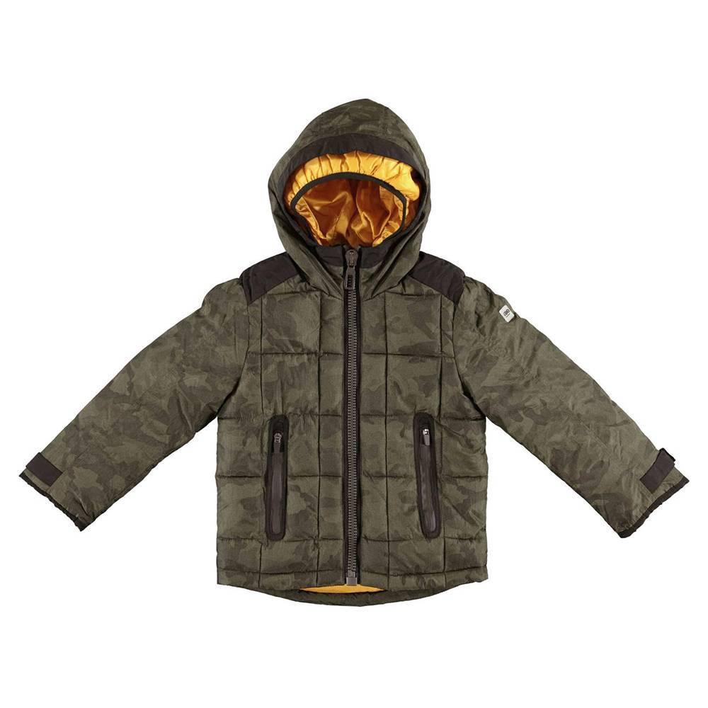 Куртка для мальчика iDO демисезонная утепленная камуфляжный принт 4.V784.00/4752