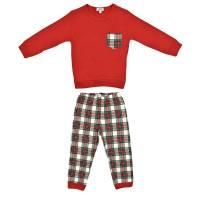 Пижама для мальчика iDO демисезонная хлопок трикотаж реглан штаны принт 4.V054.00/8025