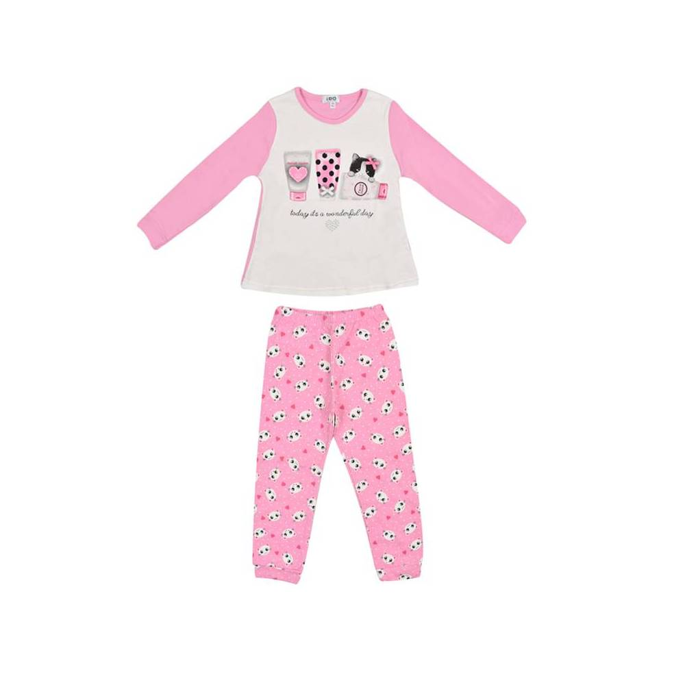 Пижама для девочки iDO хлопок трикотаж реглан штаны 4.V056.00/8002