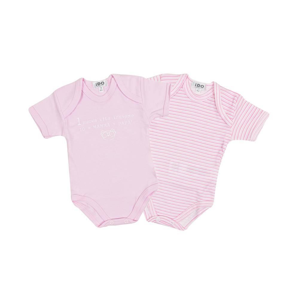 Боди комплект для девочки iDO короткий рукав хлопок трикотаж 4.V061.00/5819