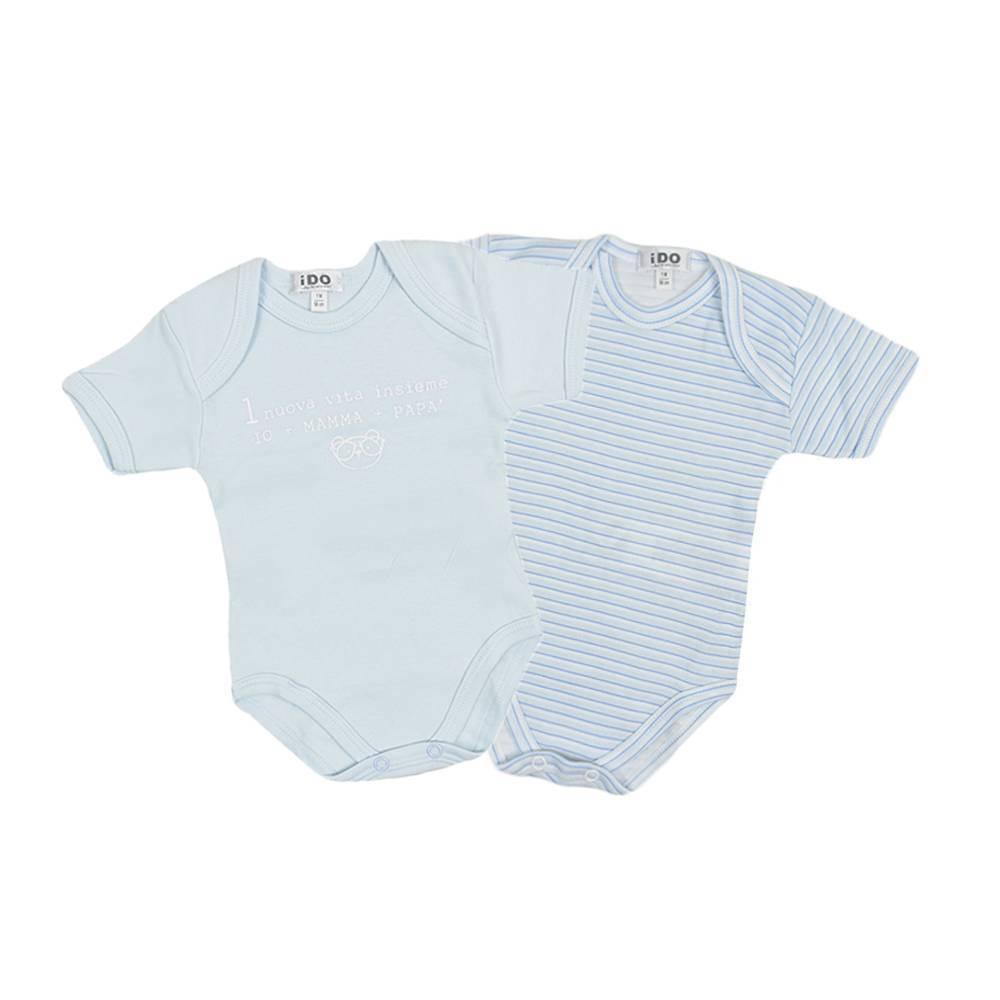 Комплект боди детский iDO комплект короткий рукав нахлесты хлопок трикотаж 4.V062.00/5818