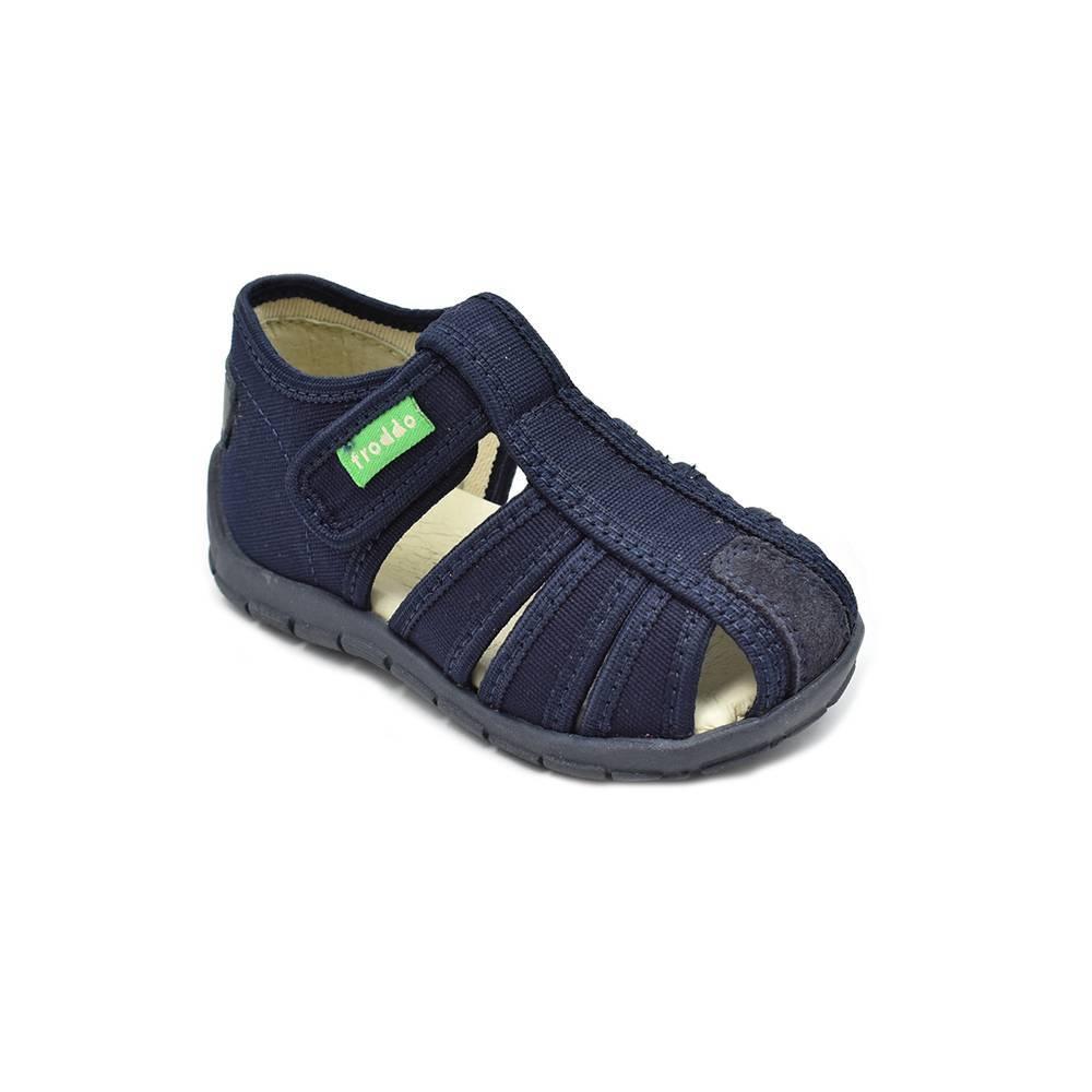 Тапочки для мальчика Froddo текстиль на липучке G1700222-3/blue+