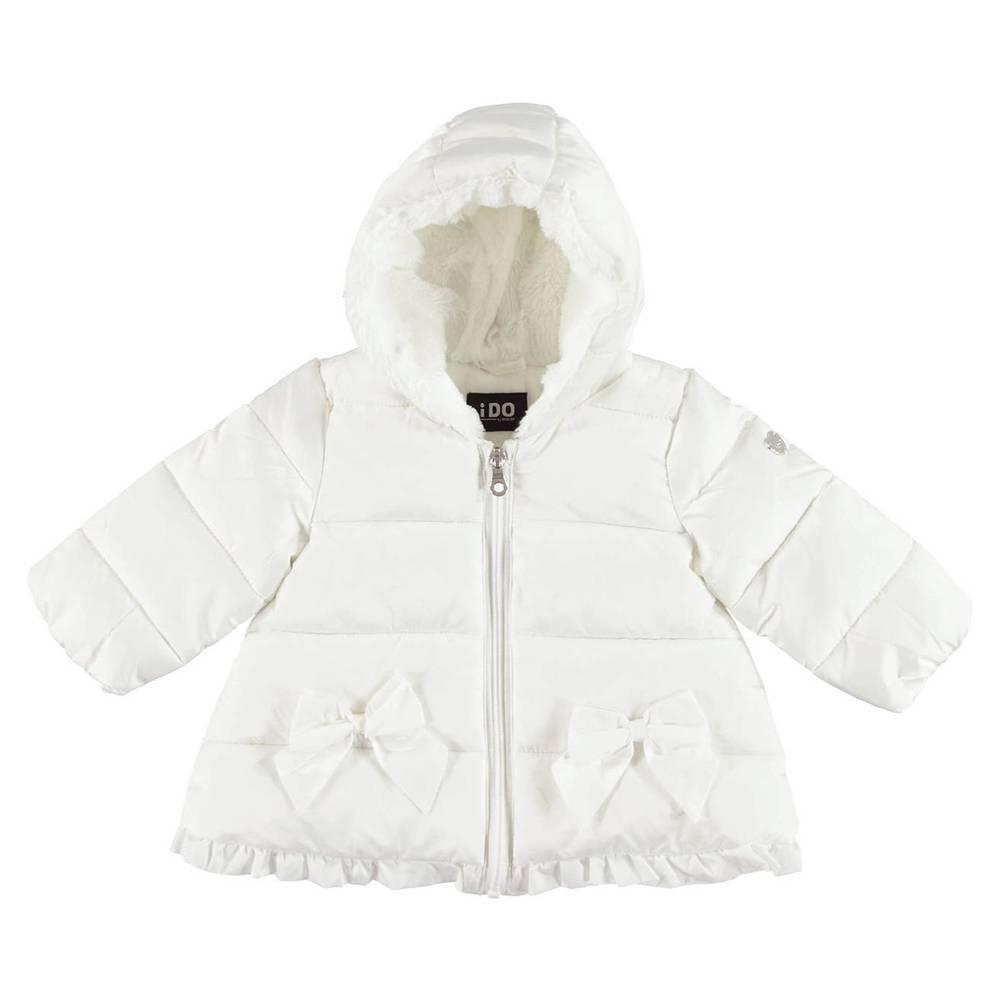 Куртка для девочки iDO демисезонная с капюшоносм рюш 4.V467.00/0112