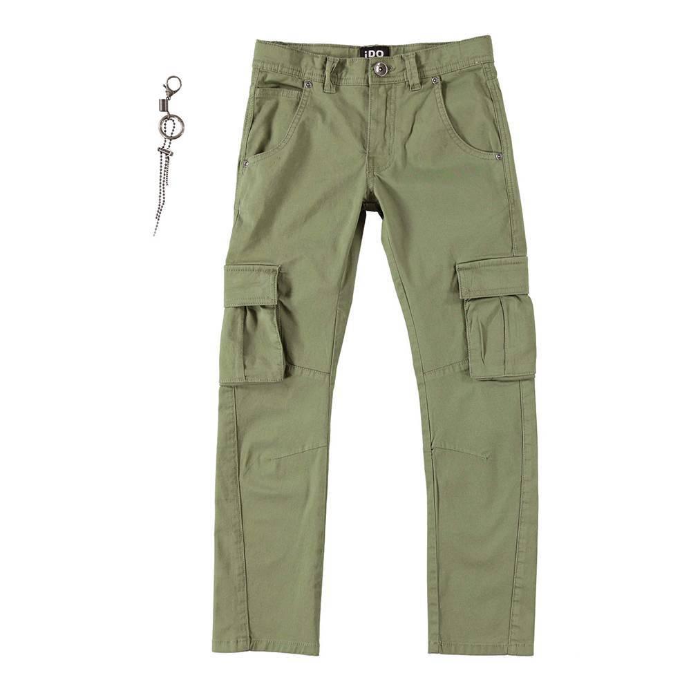 Брюки карго для мальчика iDO стильные зауженные с карманами 4.W440.00/5457