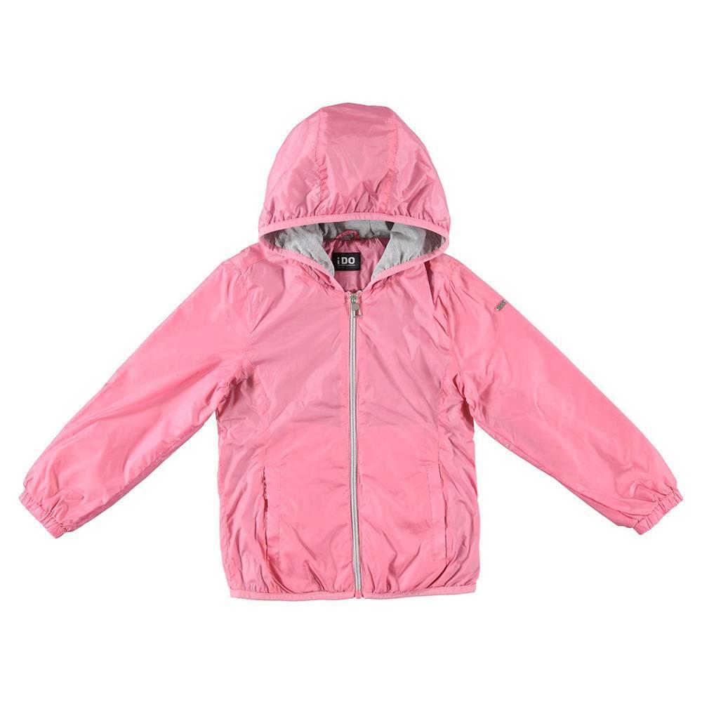 Куртка для девочки iDO подросток демисезонная ветровка с капюшоном 4.W041.00/2421