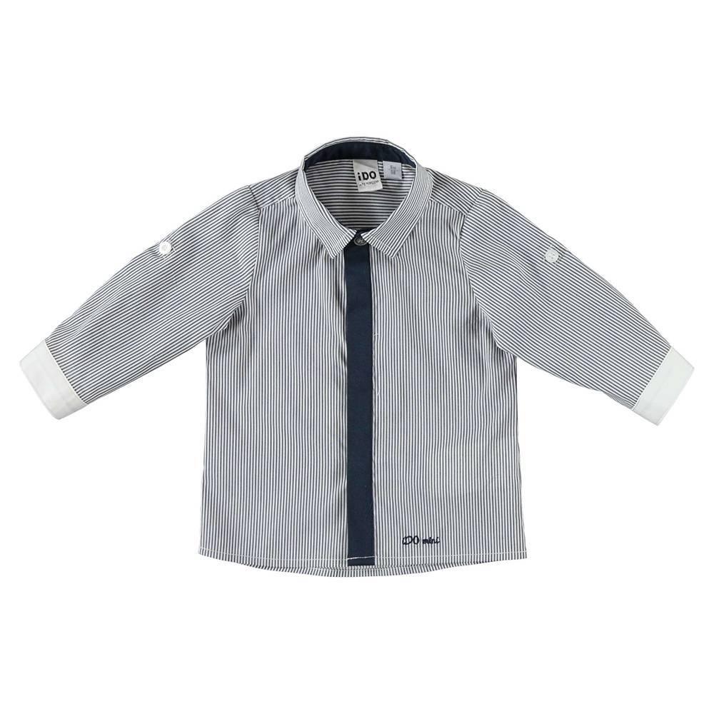 Рубашка для мальчика iDO контрастная планка и манжеты 4.W166.00/8020