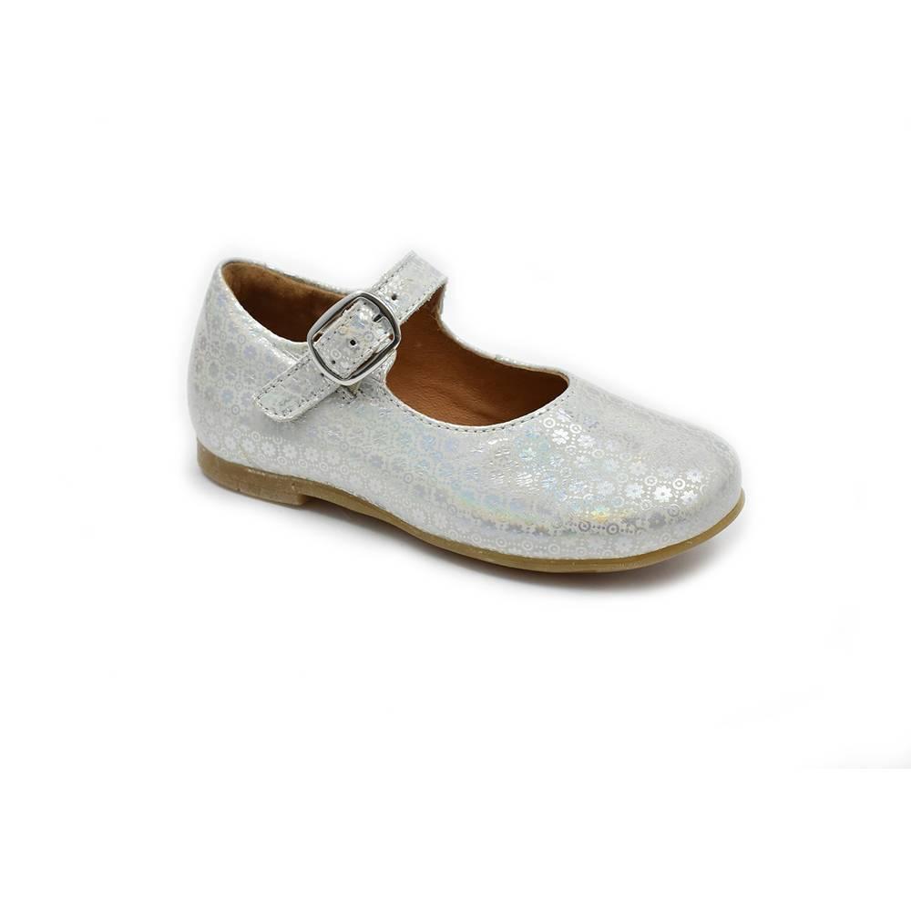 Туфли для девочки Froddo натуральная кожа на ремешке G3140086/Silver