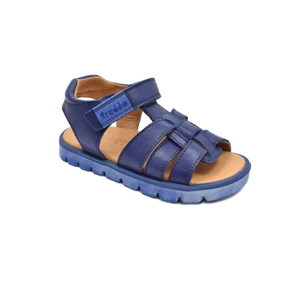 Сандалии для мальчика Froddo натуральная кожа на липучках G3150143/Blue