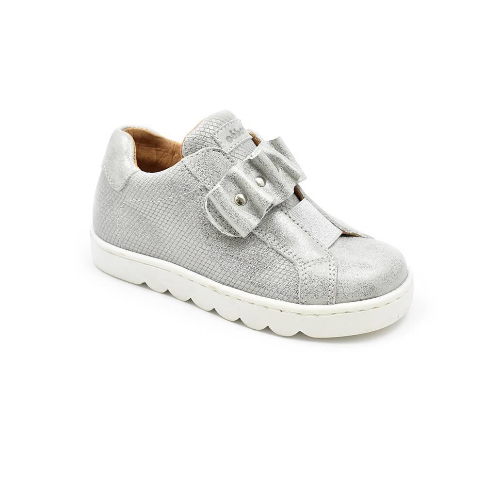 Кроссовки для девочки Froddo натуральная кожа липучка G3130129/Silver+