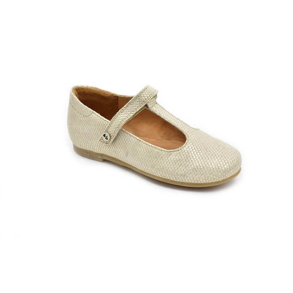 Туфли для девочки Froddo натуральная кожа на перепонке G3140085-6/Gold+