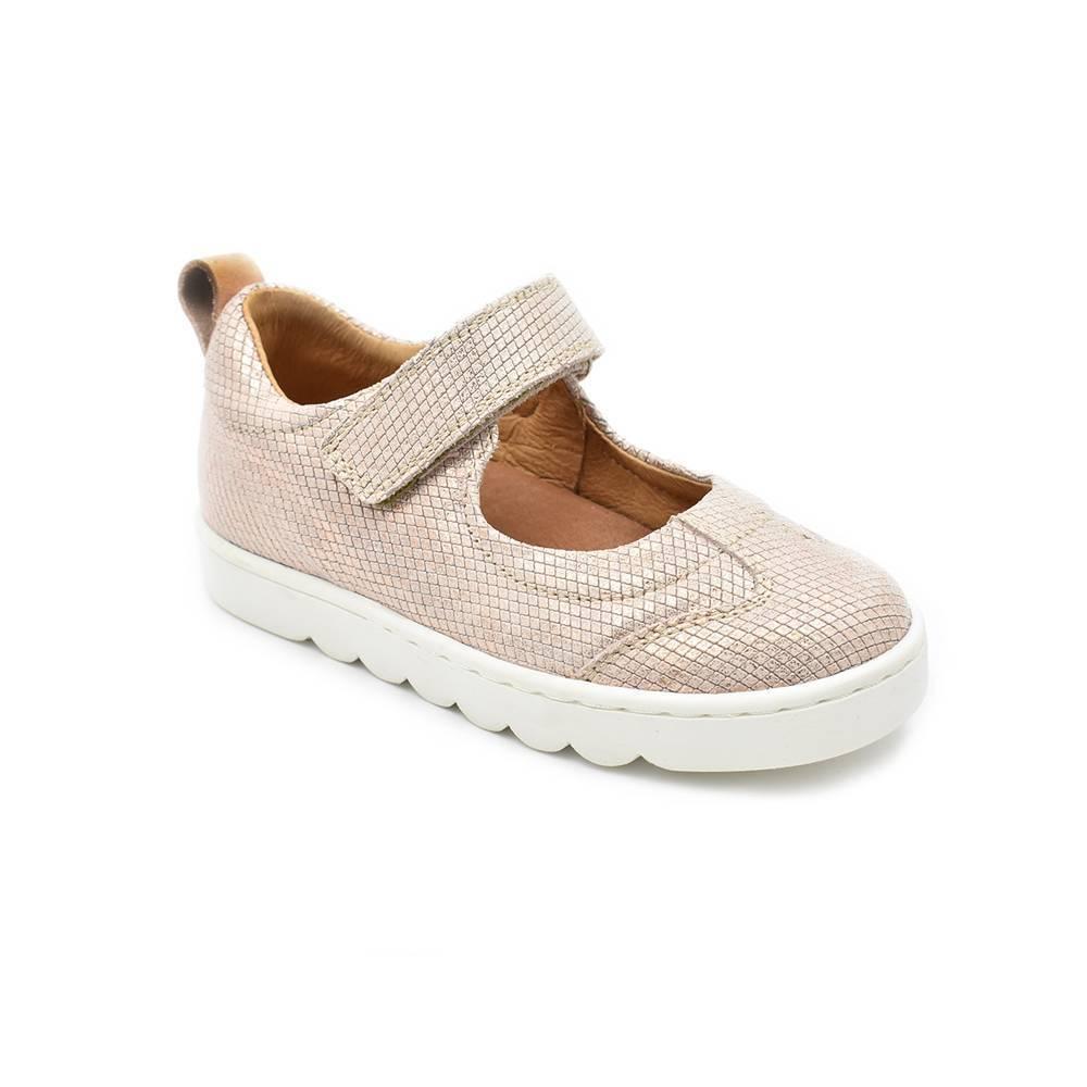 Туфли для девочки Froddo натуральная кожа на липучке G3140091/Nude+