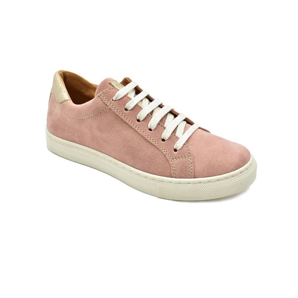 Кроссовки для девочки Froddo натуральная кожа замша на шнуровке G4130067-8/Nude